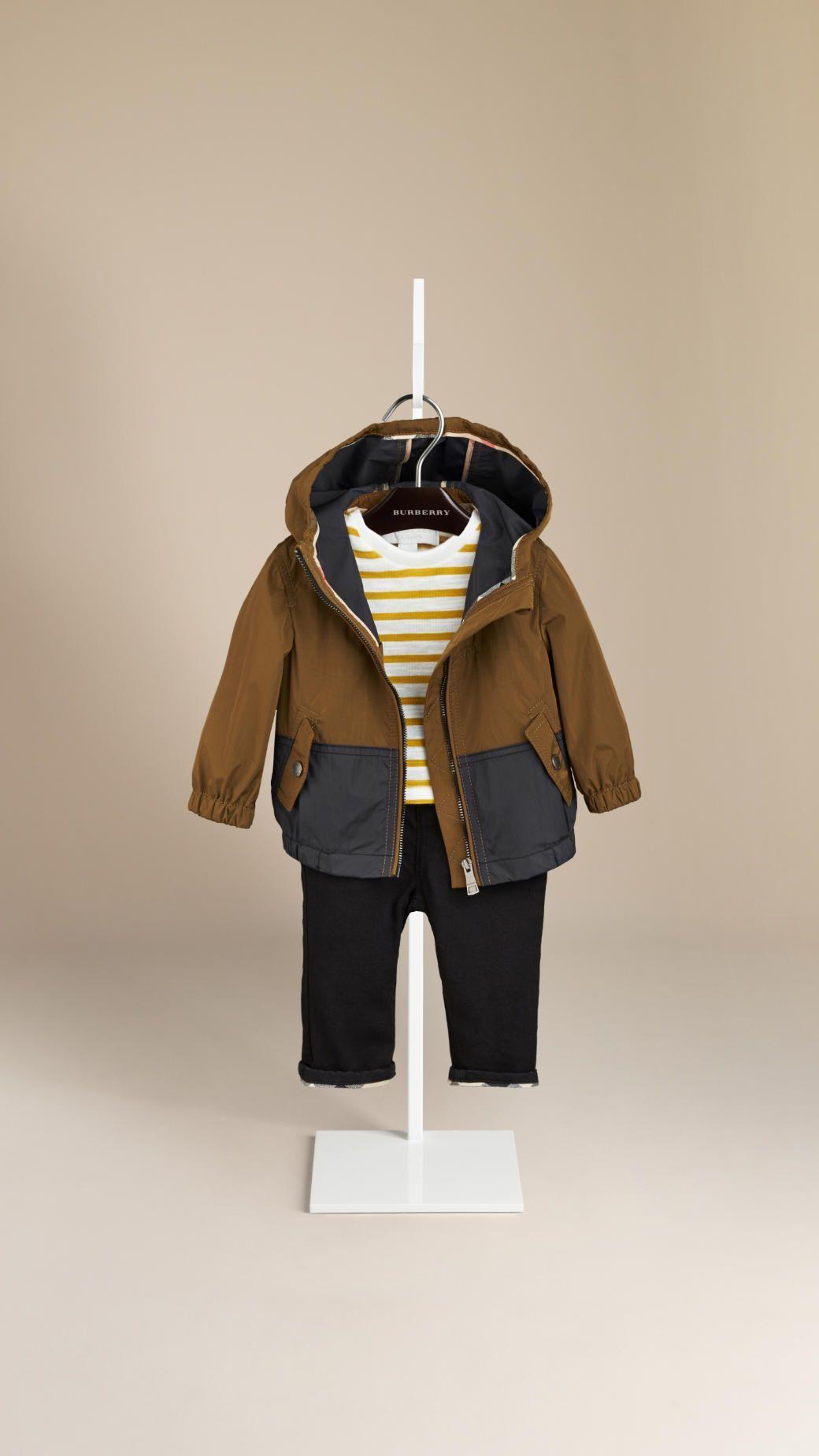 befc510c14a0 Colour Block Hooded Rain Jacket