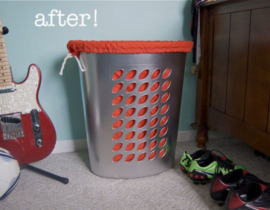 Plastic Hamper Makeover From Cheap To Chic Home Diy Diy Home Decor Hamper