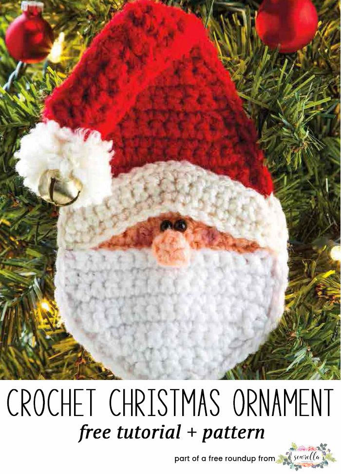 Crochet this easy santa claus amigurumi character christmas ornament from Knitted Patterns from my free crochet christmas ornaments roundup!