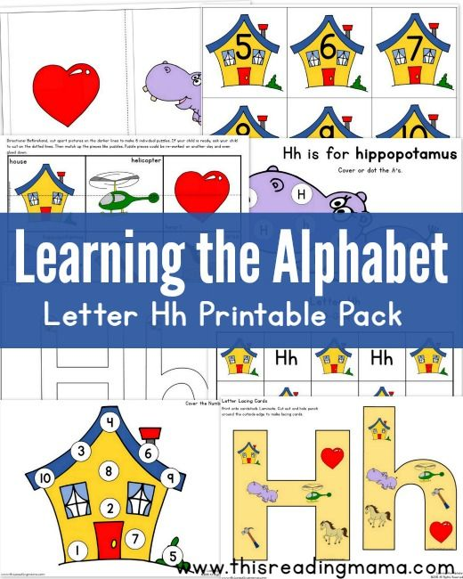 learning the alphabet free letter h printable pack best of this reading mama learning the. Black Bedroom Furniture Sets. Home Design Ideas