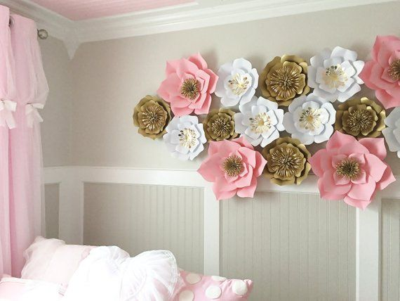 Large paper flowers wall decor backdrop giant etsy also rh pinterest