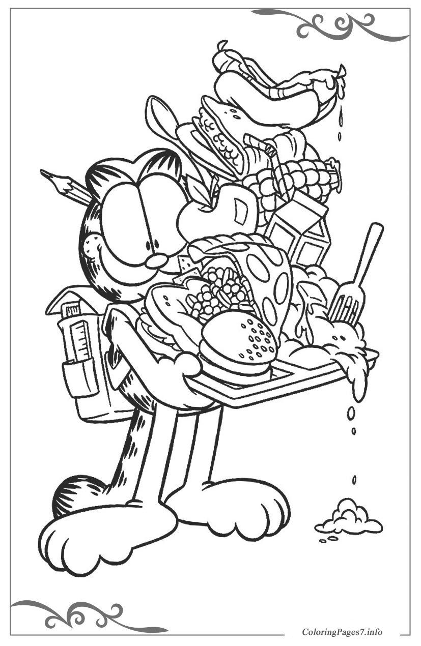 Garfield Free Coloring Pages For Kids Food Coloring Pages Cartoon Coloring Pages Disney Coloring Pages