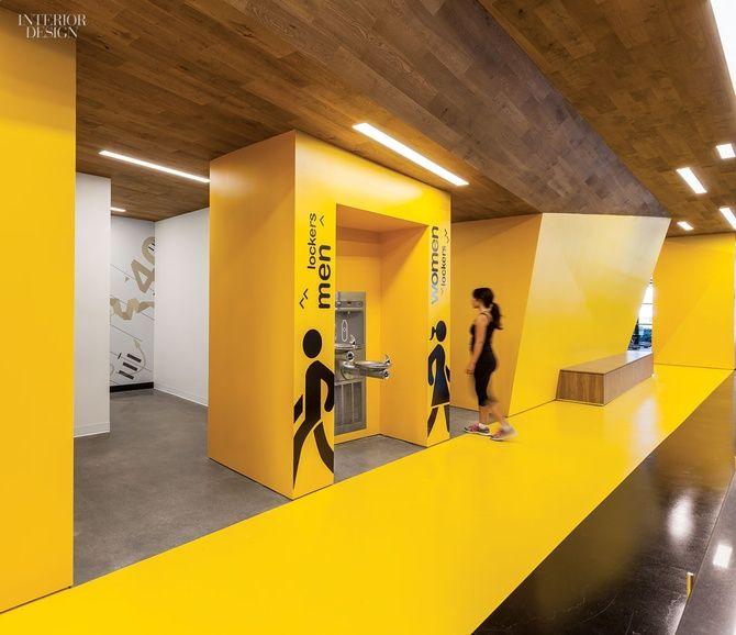 Gym Interior Fitness Design And: Gensler San Jose's Fitness Center For Symantec