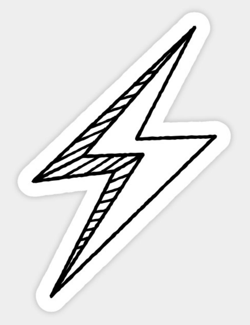 Hand Drawn Lightning Bolt Sticker Lightning Bolt Tattoo Lightning Bolt Design How To Draw Hands