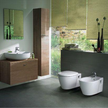 einladendes badezimmer mit grauem boden - ideal standard connect, Hause ideen