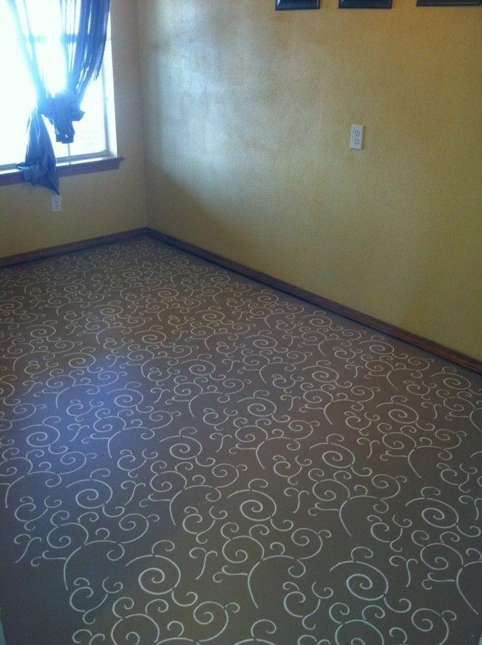 Painted Concrete Floors Stencil Concrete Floors Bedroom Concrete Bedroom Concrete Floors
