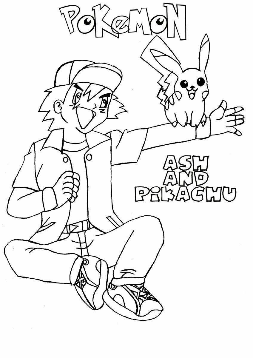 Ash And Pikachu Coloring Page From The Thousands Of Photographs On - Ash-and-pikachu-coloring-pages