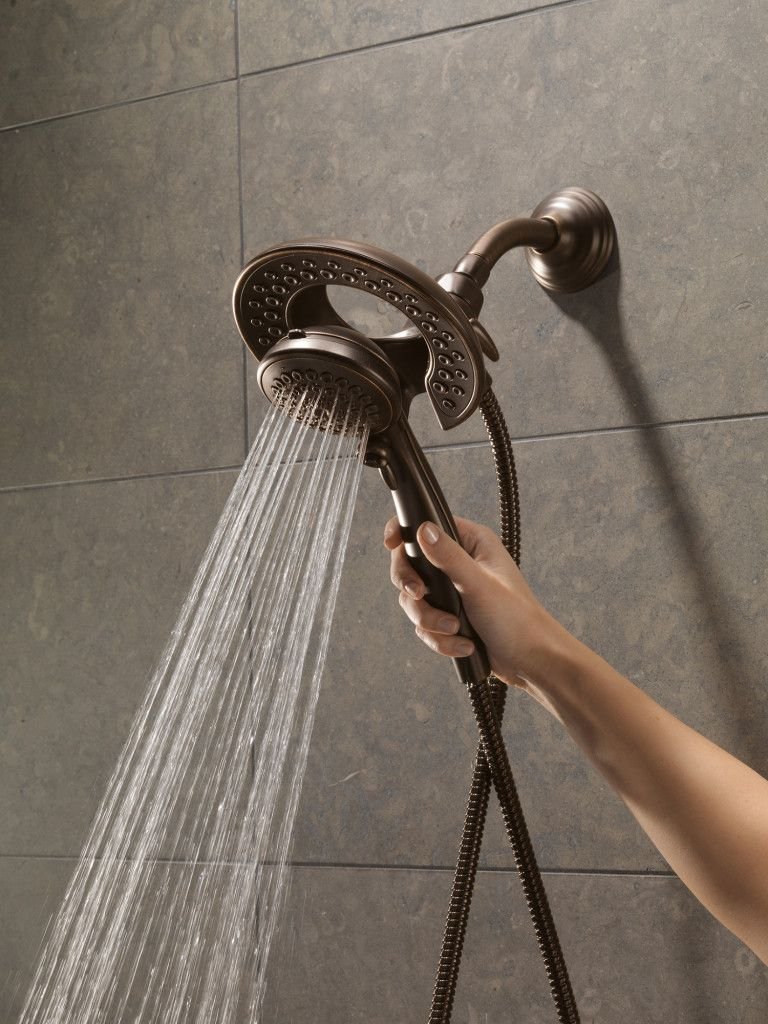 Built-in shower head and removable shower head - Perfect for aging ...