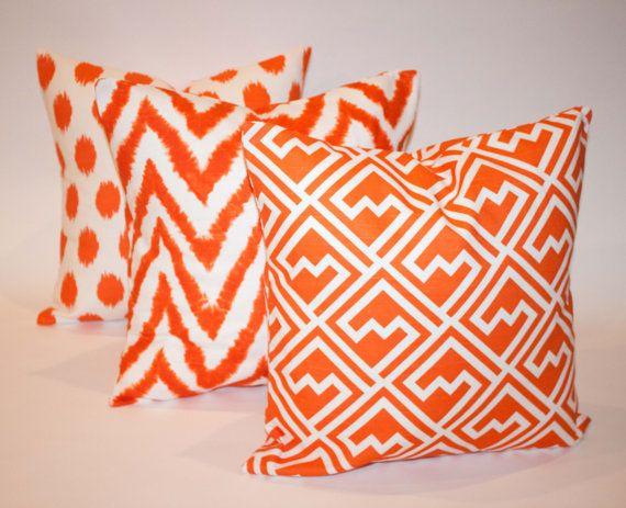 Bright Orange Throw Pillows 20 X 20 Orange Accent By Thatsmypillow 56 85 Orange Accent Pillow Throw Pillows Orange Throw Pillows