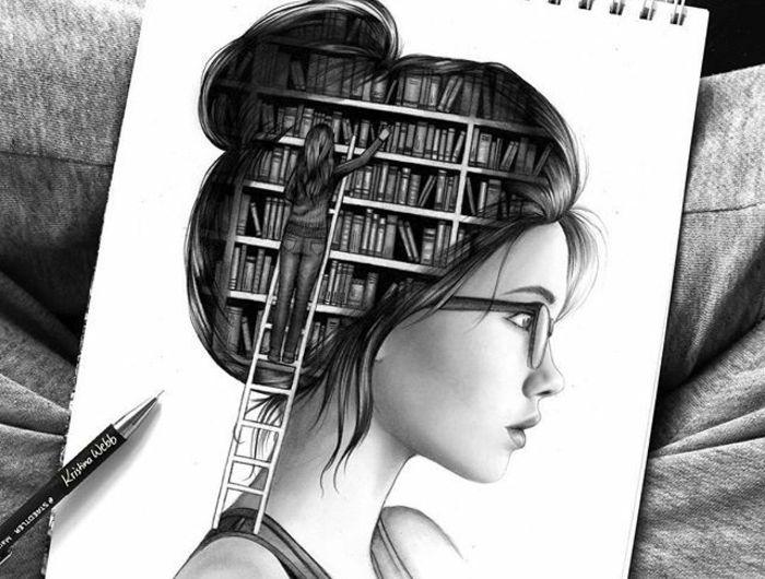 1001 images pour le dessin fille parfait des id es pour d velopper son cr ativit dessin - Dessin geometrique a faire ...