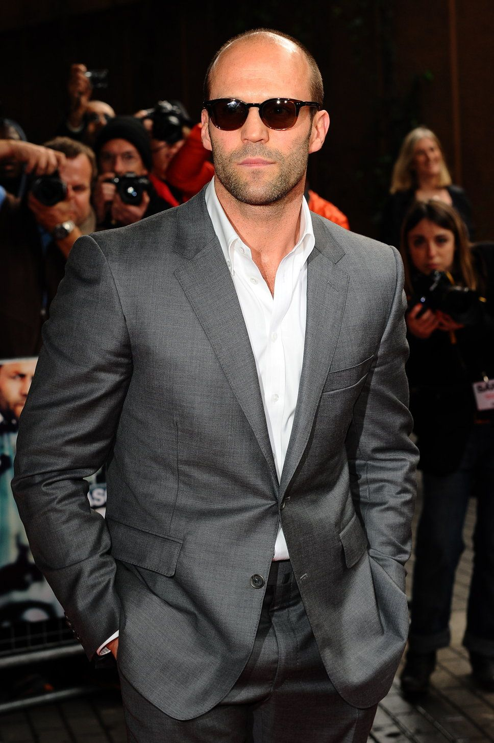 My choice for Mr. Christian Grey, although not typical since he is bald, is Mr. Jason Statham. HOT!! He exudes confidence in his walk, his attitude, his demeanor-just the whole package. Not sure if they should make Christian bald, or give Jason hair-neither seems right in my mind