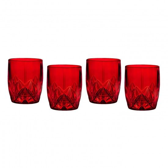 Brookside Red Double Old Fashioned, Set of 4