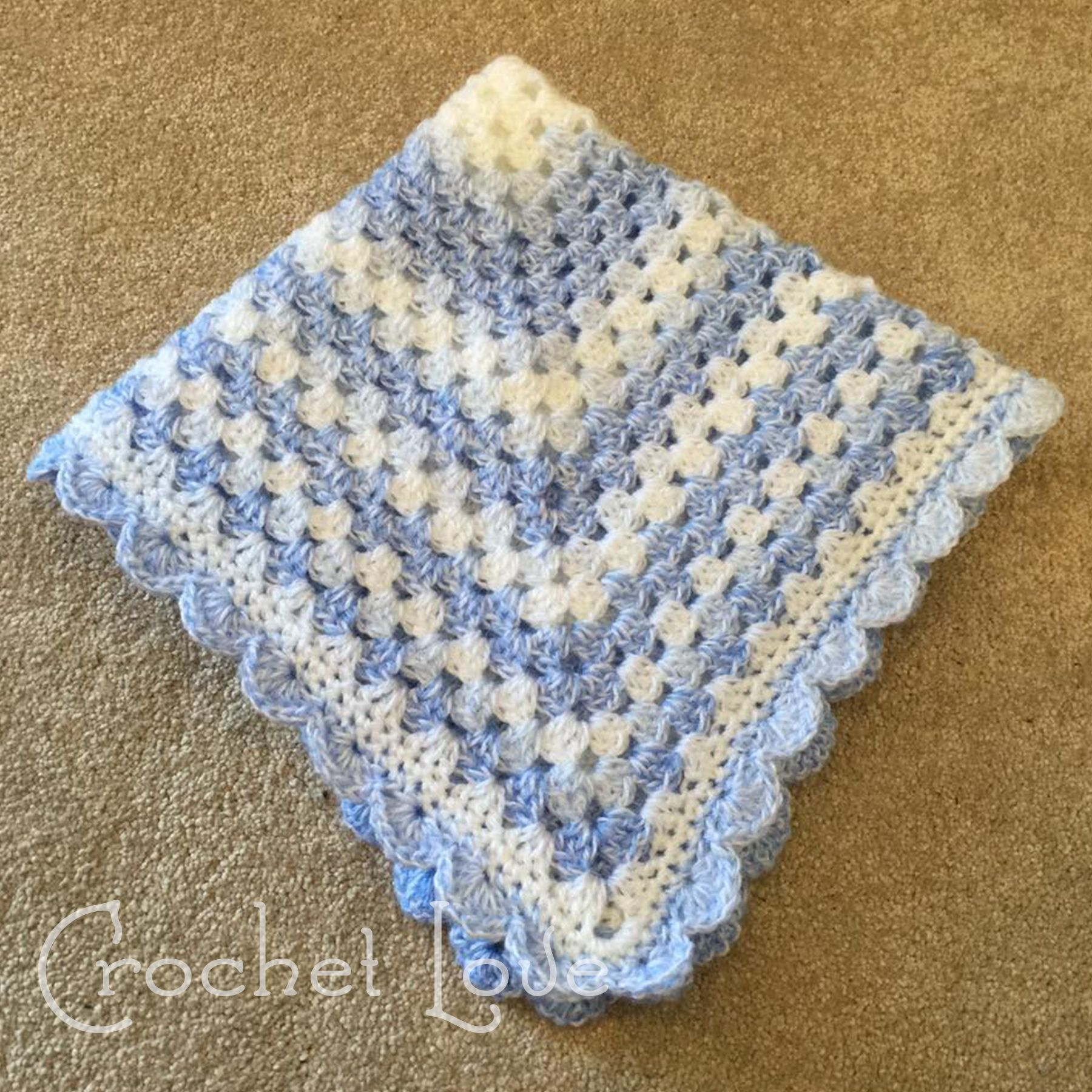 Continuous Granny Square Afghan Pattern New Decoration