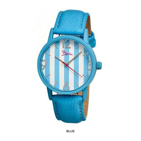 Boum Gateau Women's Watch with Genuine Leather Strap - Assorted Colors at 77% Savings off Retail!