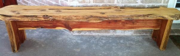 Cypress Furniture Solid 2 Quot Slab Cedar Benches 5