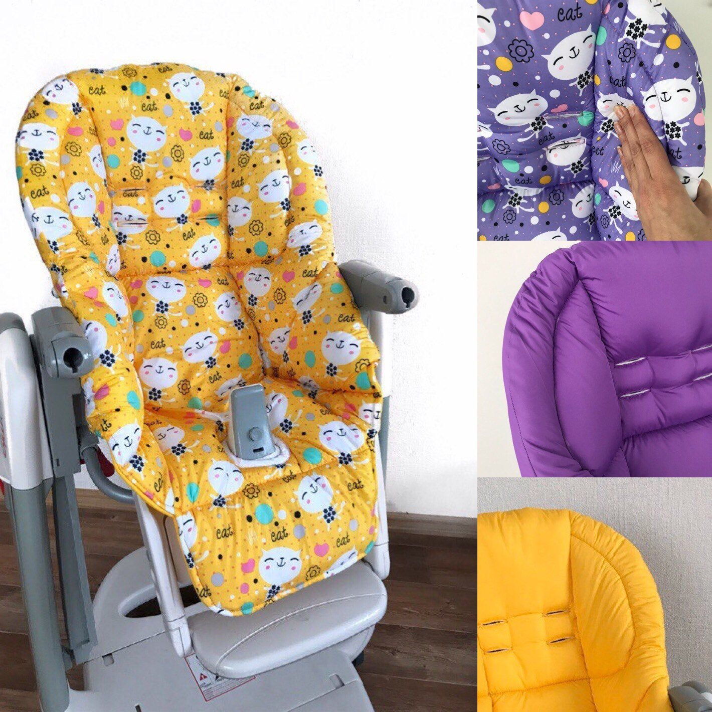 Highchair cover Peg Perego Tatamia, washable double sided ...