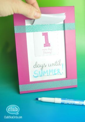 Make Your Own Countdown Calendar and Notepad Tween Craft Ideas for
