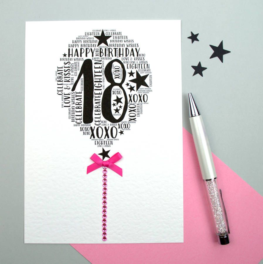 Are You Interested In Our 18th Birthday Card With Personalised Need Look No Further