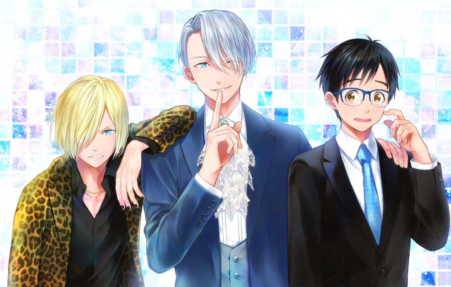Anime Yuri On Ice Victor Nikiforov Yuuri Katsuki Yuri Plisetsky Wallpaper Anime Anime Wallpaper Yuri On Ice