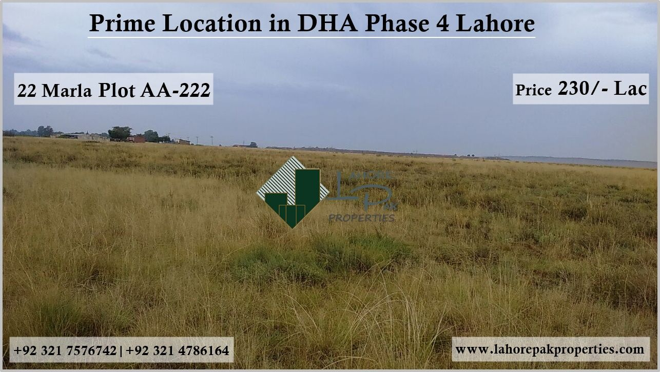 Prime Location In Dha Phase 4 Lahore Property Overview 1 Kanal Bungalow For Sale Best Option For Living Pur 1 Kanal Plot Dha Phase 4 Bunga