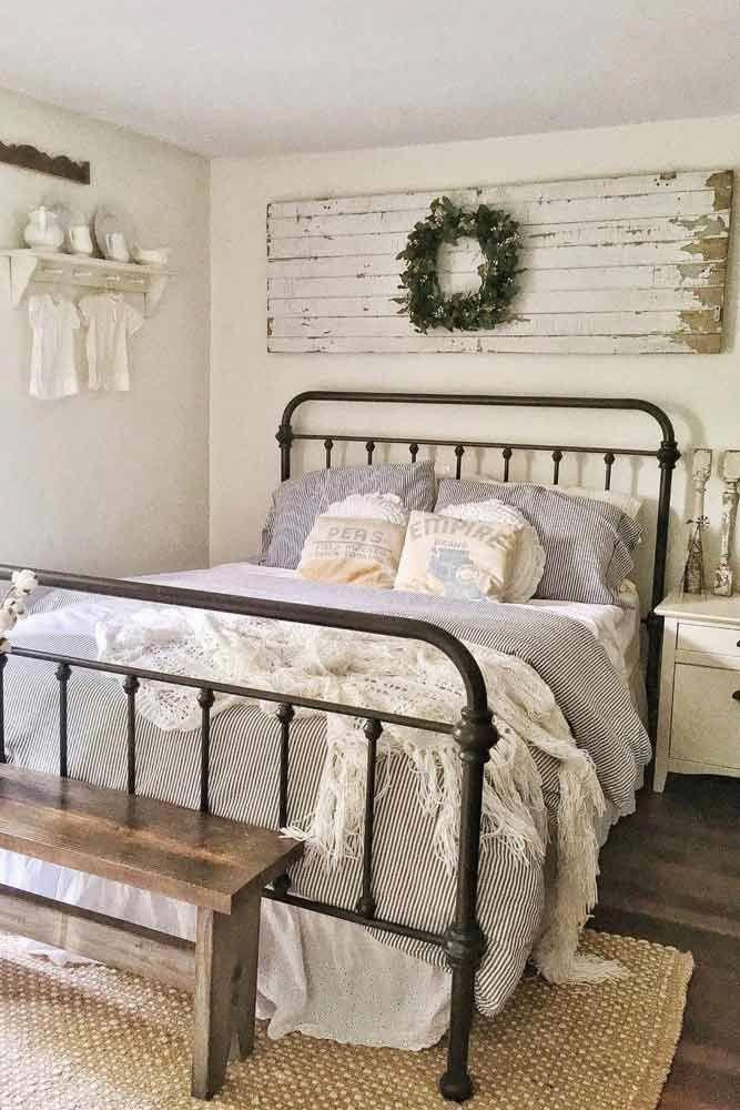 Vintage Bedroom Decorating Idea #vintagebedroom Simple, colorful, cheap, modern or vintage farmhouse décor ideas to make it look like your dream. #homedecor #farmhouse #farmhousedecor     Source link #beautiful #Decor #Farmhouse #ideas #Liking #taste