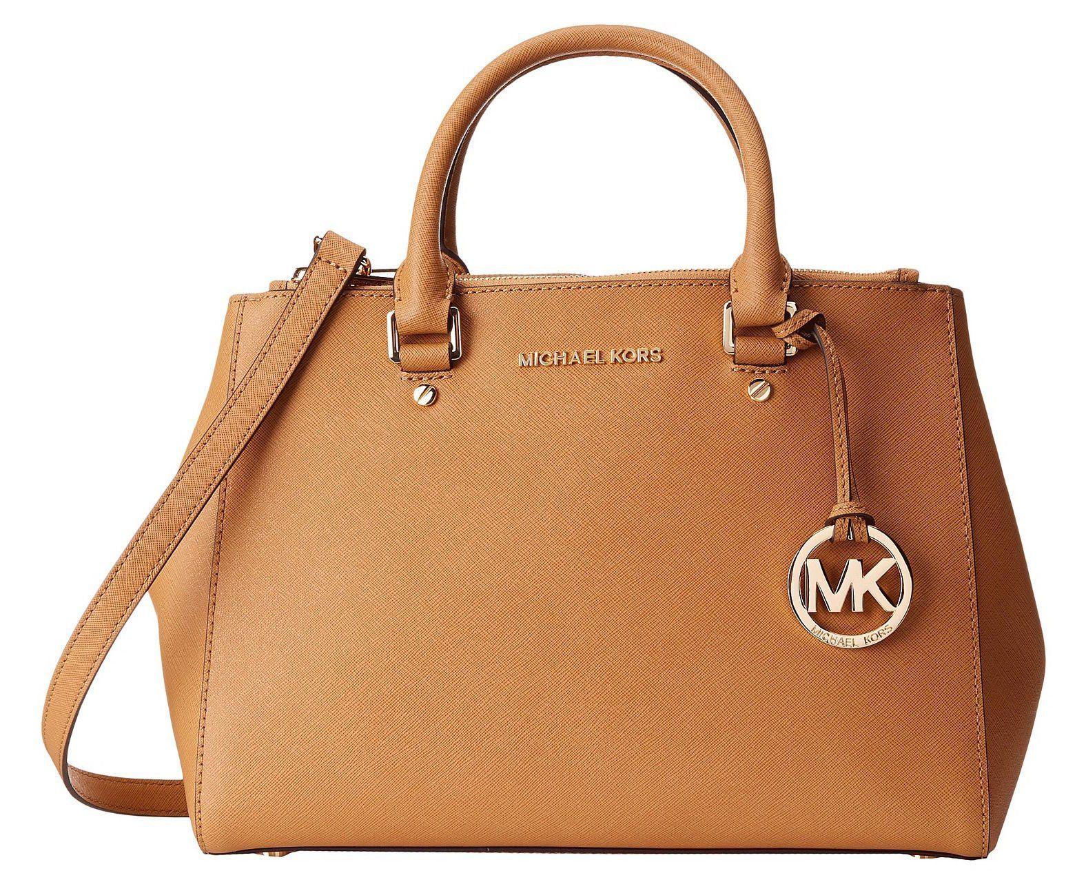 Michael Kors Sutton Medium Satchel Leather Bag/ Shoulder Peanut (Brown)  #30S4GTVS6L