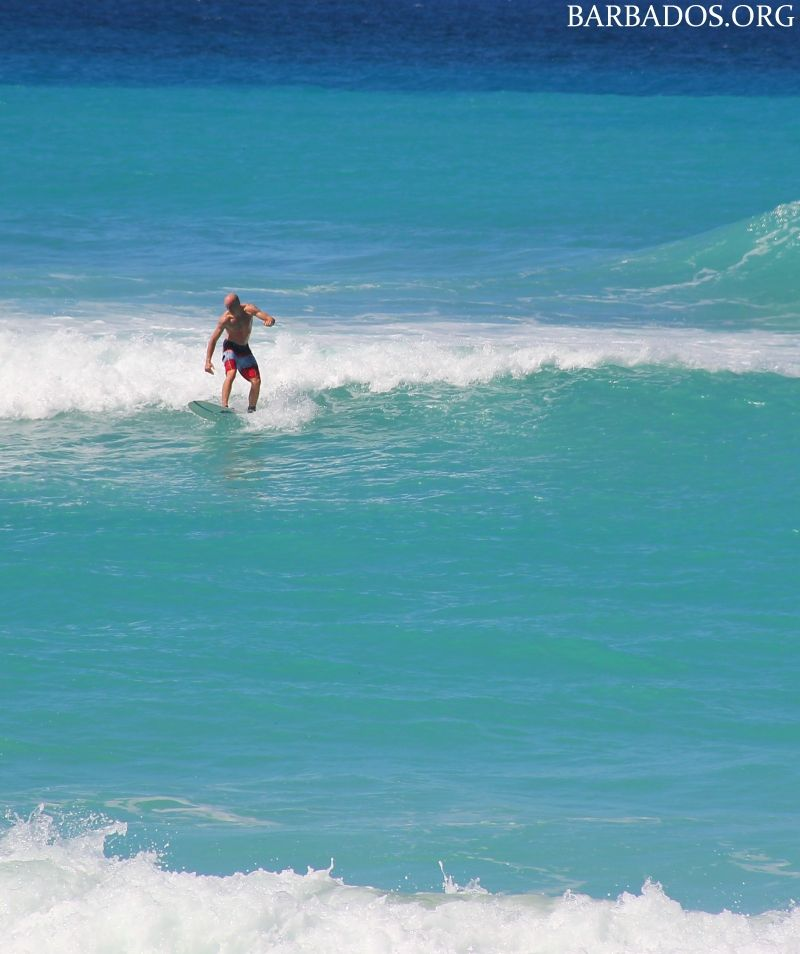 Barbados has excellent surfing conditions for all skill