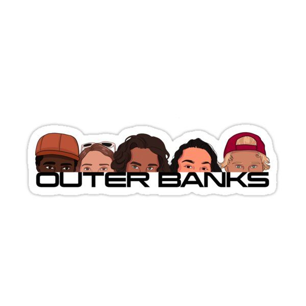 Outerbanks Logo with Faces Sticker