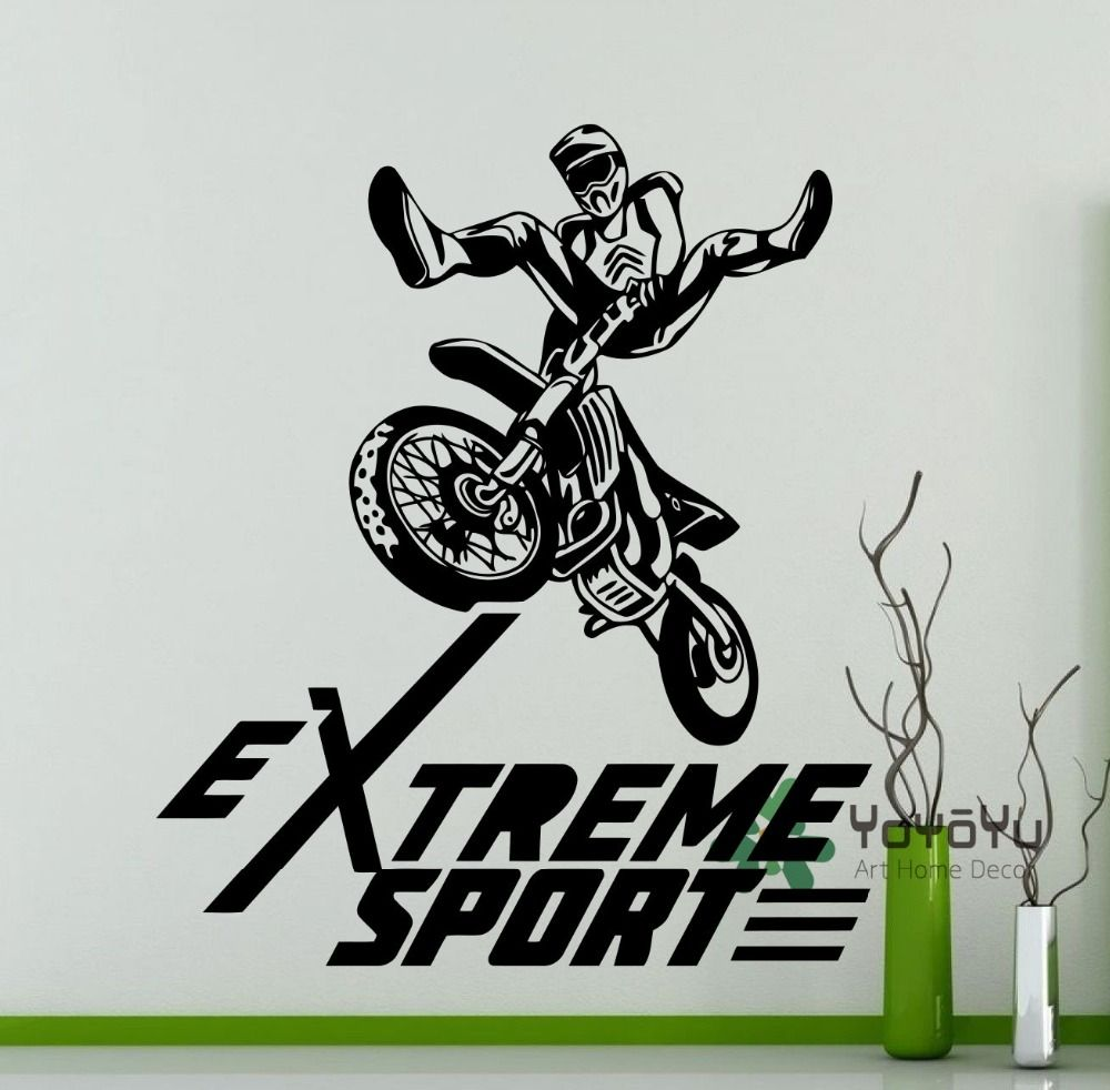 Extreme Sport Logo Motocross Freestyle Wall Sticker Bike Garage ...
