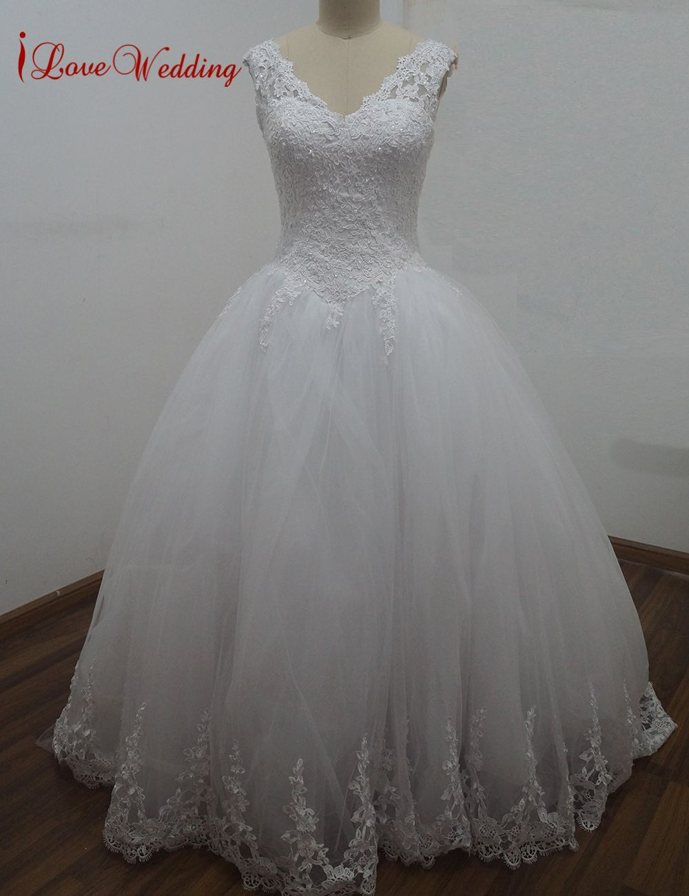 Click to buy ucuc ilovewedding luxury cathedral train ball gown