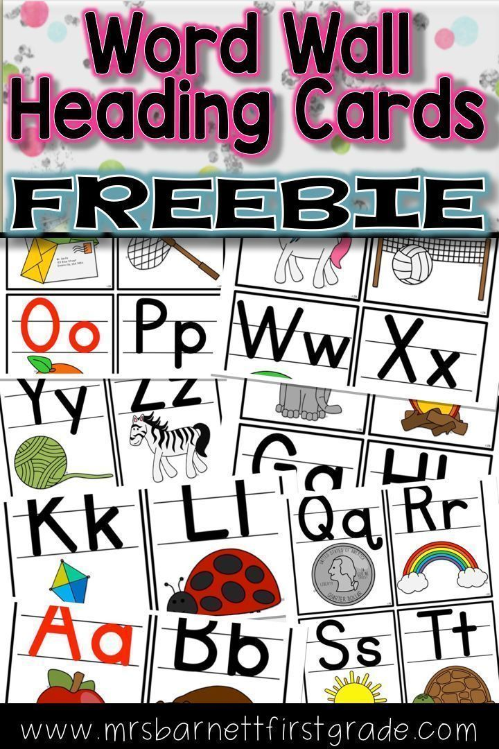 Printable Worksheets free handwriting without tears worksheets : Use these free cards for headings on your Word Wall. They use ...