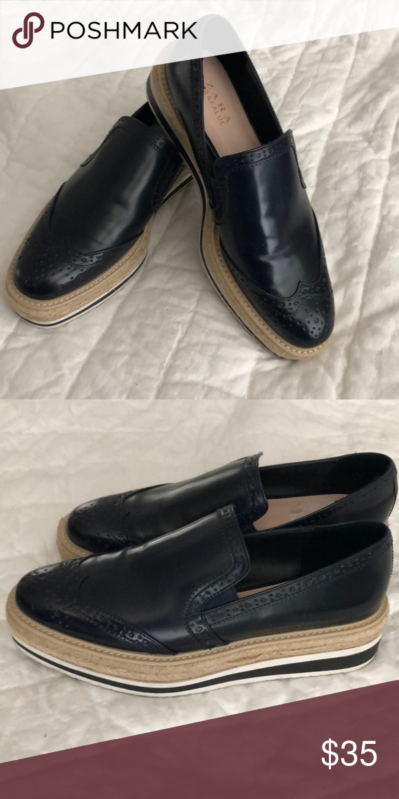 c6288f2c3f3 zara trafaluc shoes Worn once excellent conditions Zara Shoes Flats    Loafers
