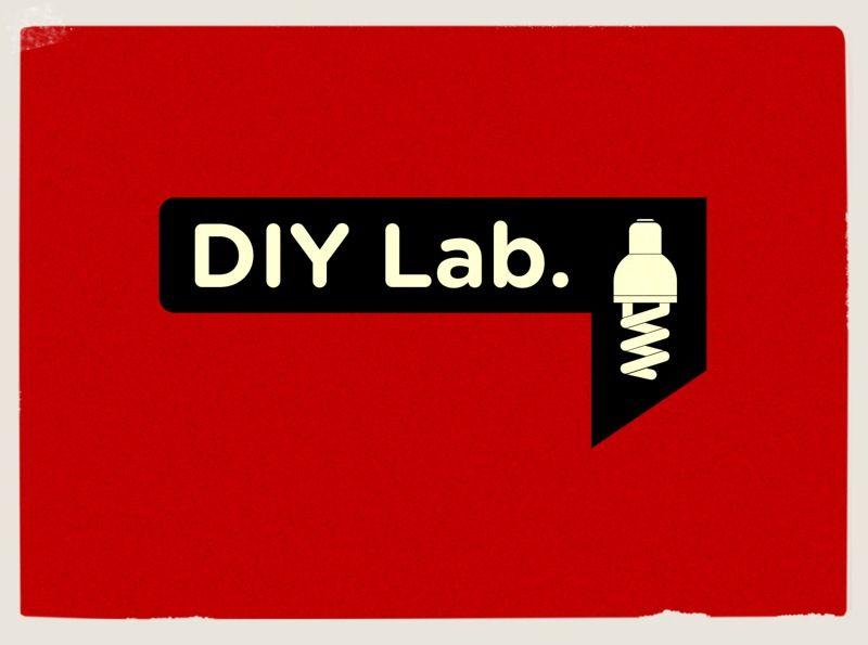 "DIY lab "" logo graphic design for hardware shop DIY"