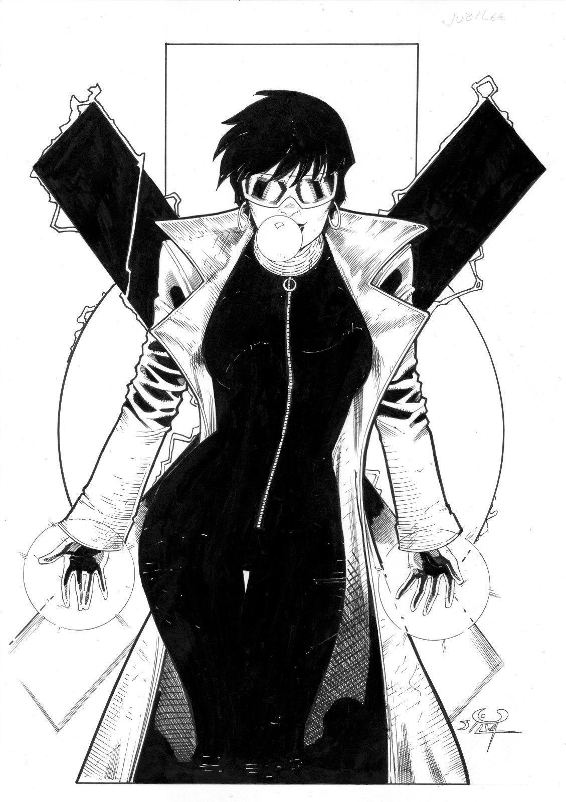 Jubilee art by ed silva marvel comics manga comics