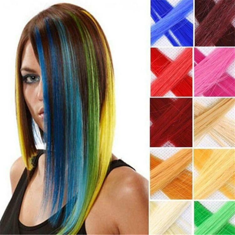2016 Hot New 20 Highlight Straight Colored Colorful Single Clip On
