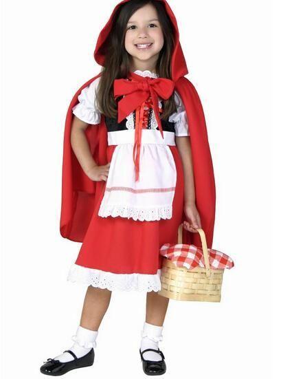 Halloween new cute 80-160cm kid child girl Little Red Riding Hood - halloween costume girl ideas