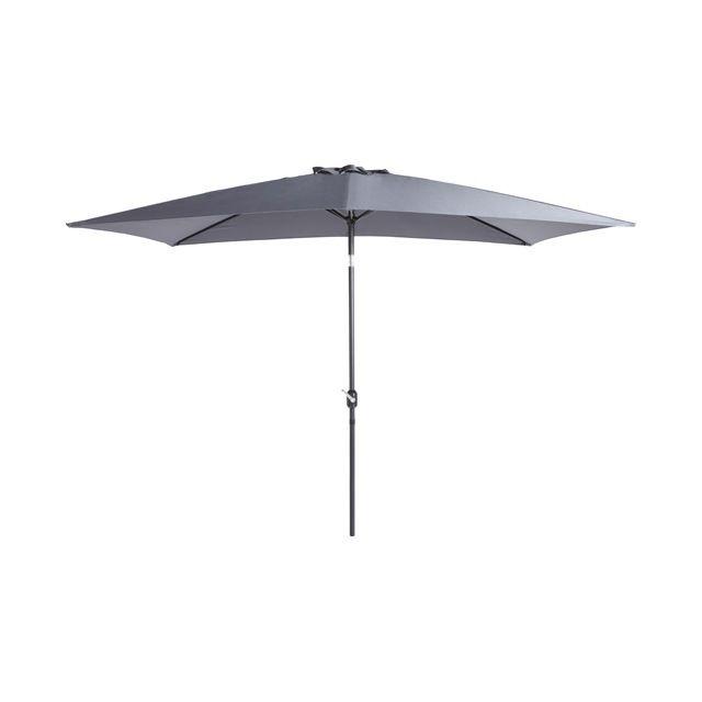 Parasol adelaide en alu 200 x 300 cm gris castorama