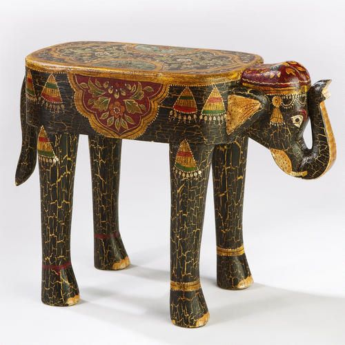 Elephant and elephant-bricks 10 x 10 hand-painted underpilots or decorative tiles to use as coasters