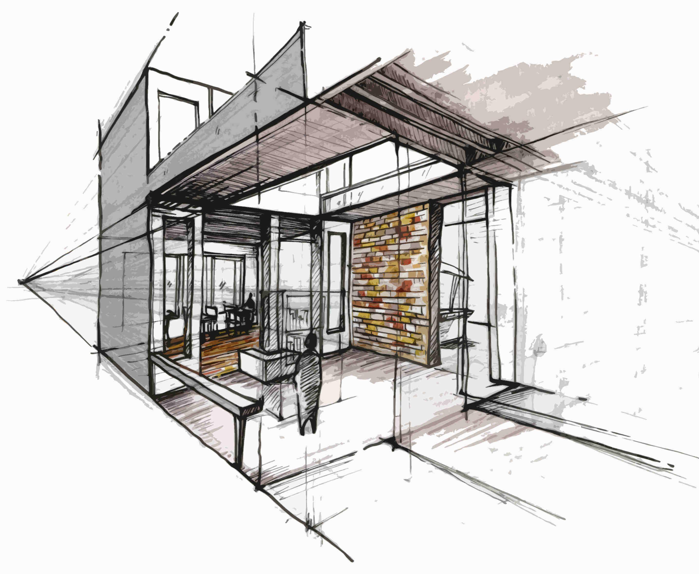 Interior sketch inspirierende architektur pinterest for Innenraumdesign studium