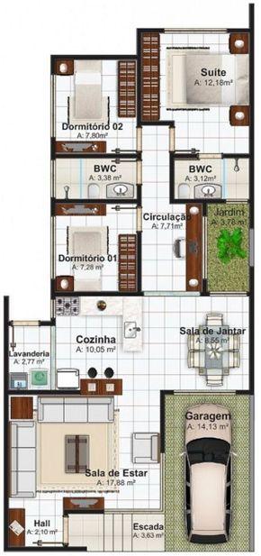 Plano de casa de 100 metros cuadrados dise os de casas - Planos de casas de 100 metros cuadrados ...