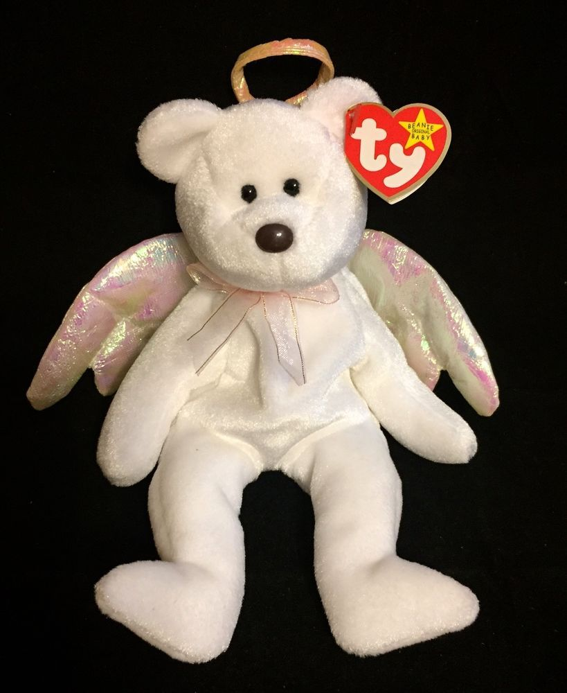 Halo Beanie Bear Value : beanie, value, BEANIE, Beanies, Babies, White, Angel, Wings, Beanie,
