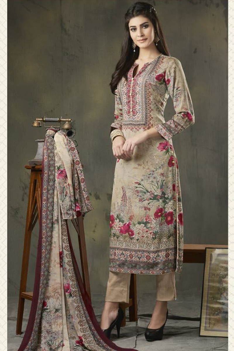 aaf1795225 Wholesale Dealer|Wholesale Simple Daily Wear Embroidered Crepe Salwar Suit  Material