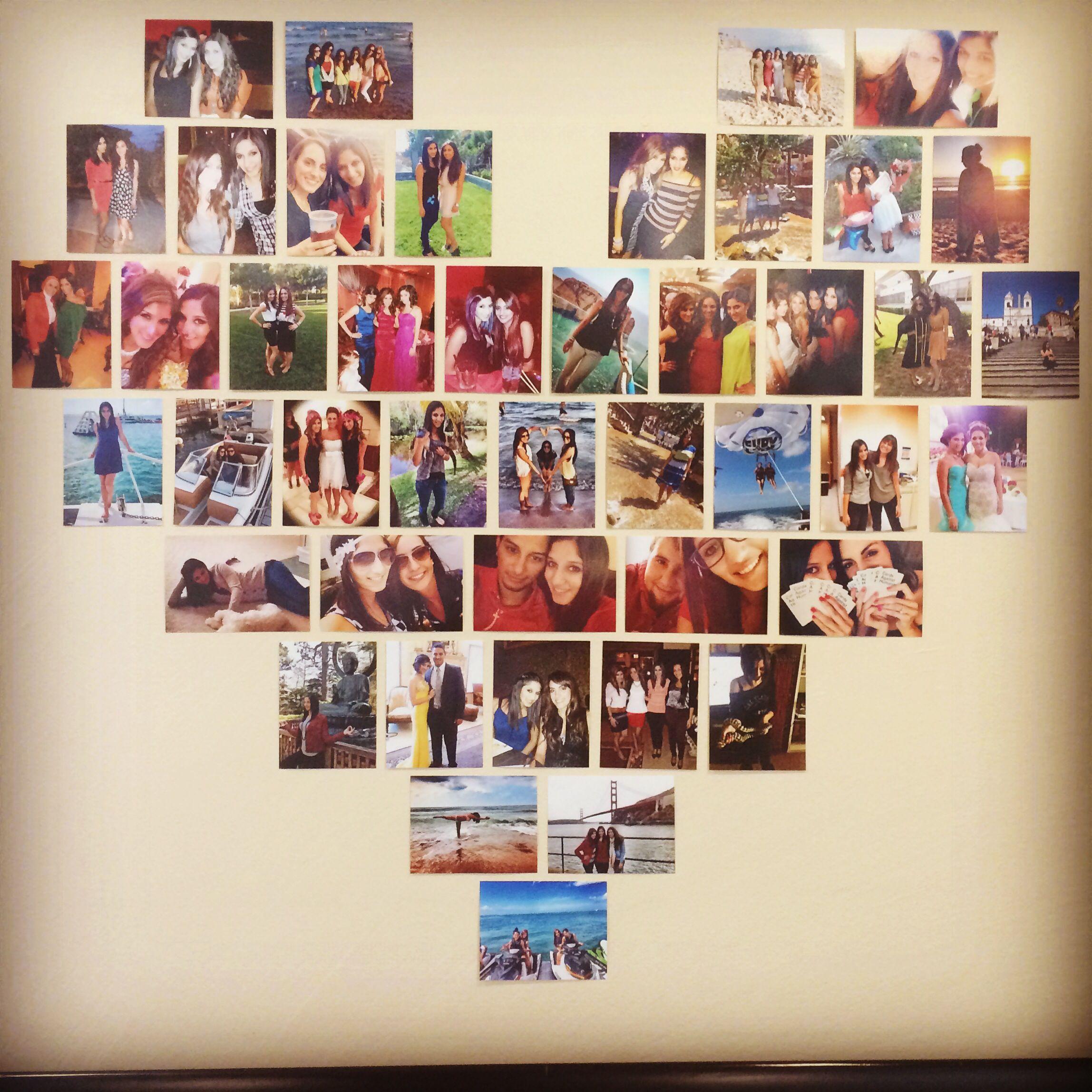 Heart Wall Art Picture Collage Collage Wände Zimmerdekoration Bilder Aufhängen