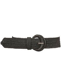 Dorothy Perkins Black straw elastic waist belt Black straw elastic waist belt. 100% Polypropylene. http://www.comparestoreprices.co.uk/womens-accessories/dorothy-perkins-black-straw-elastic-waist-belt.asp