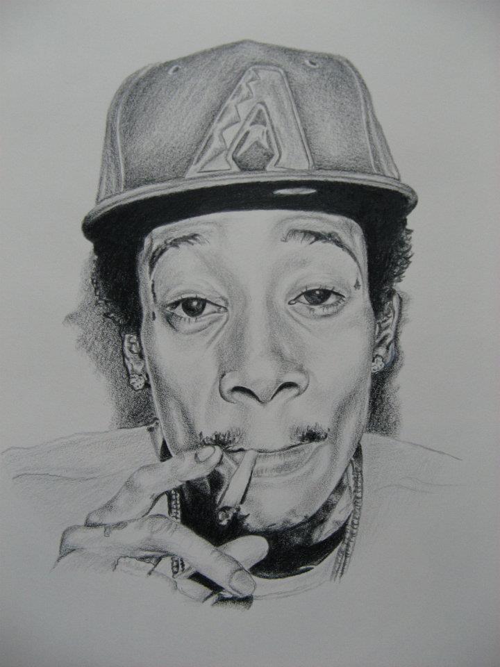 Wiz Khalifa portrait | I L L U S T R A T I O N | Pinterest ...