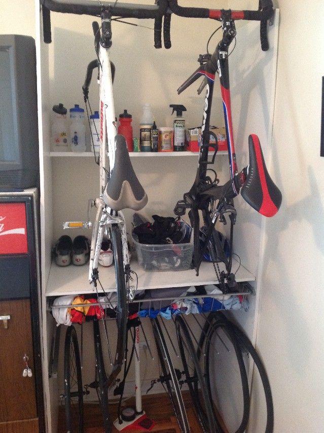 Pax wardrobe bike closet Baby closet storage, Pax