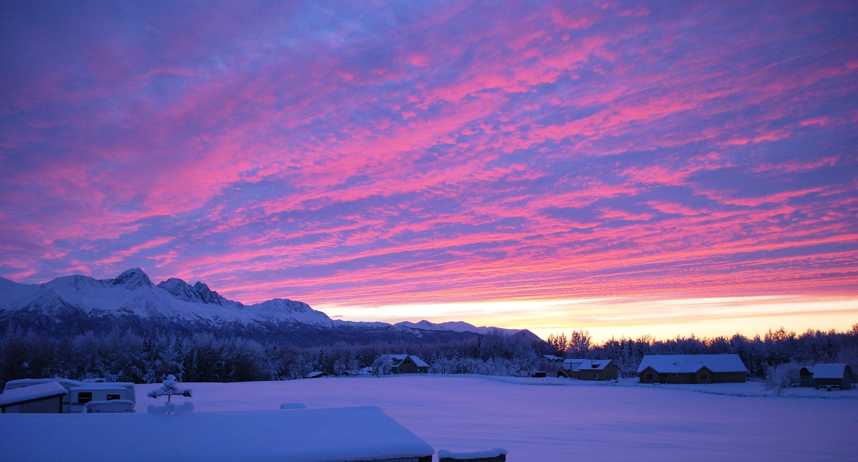 Pink Sky Pink Snow