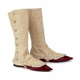 4b27f580fb7c Chaussures (Etats-Unis) et guêtres (Europe) de femme, 1800-1830 | Le ...