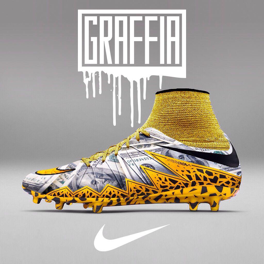 770489c84e7c Customised Nike Hypervenom Football Boots by Graffia.uk