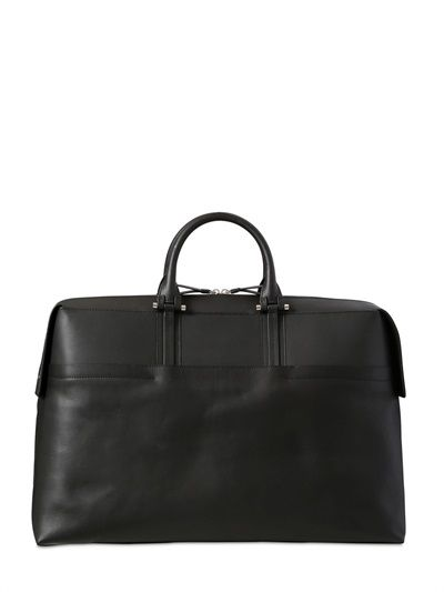BONASTRE - VEGETABLE TANNED LEATHER DUFFLE BAG